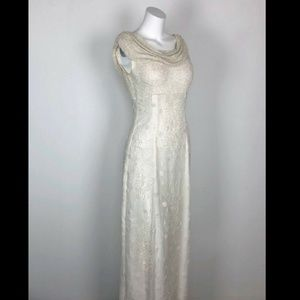 Cecily Brown Pure Silk Beaded Wedding Dress Cowl